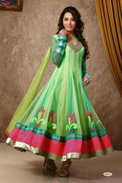 Picture of Multicolor Net Anarkali Suit