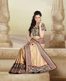 Picture of Gold Black Art Banarasi Saree