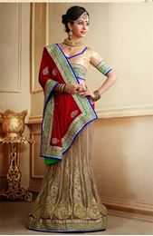 Picture of New Look Red Jacquard Saree